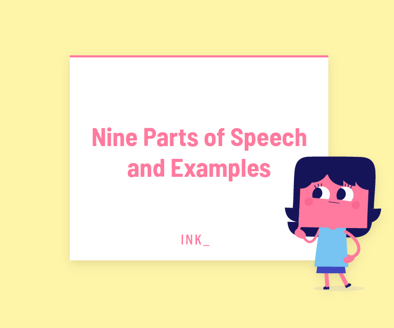 Nine parts of speech examples