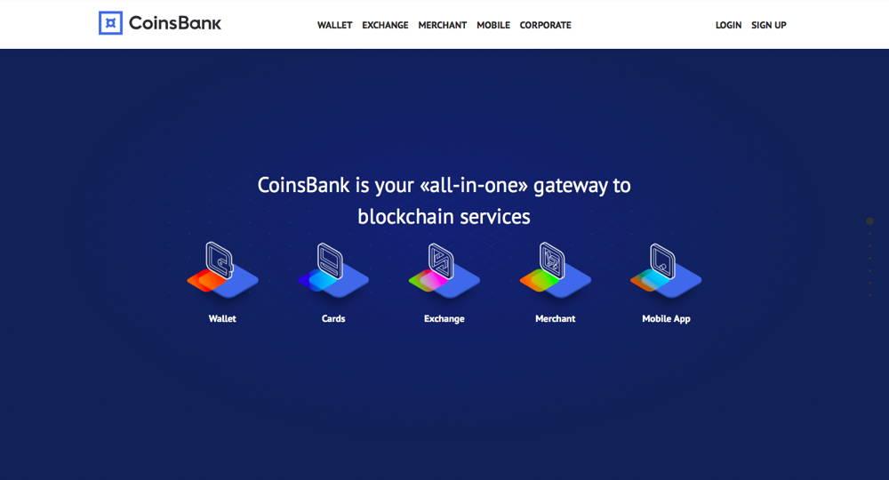 Coinsbank payment processor interface