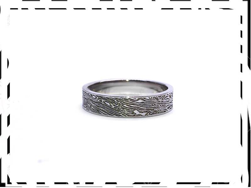 silver zebra ring