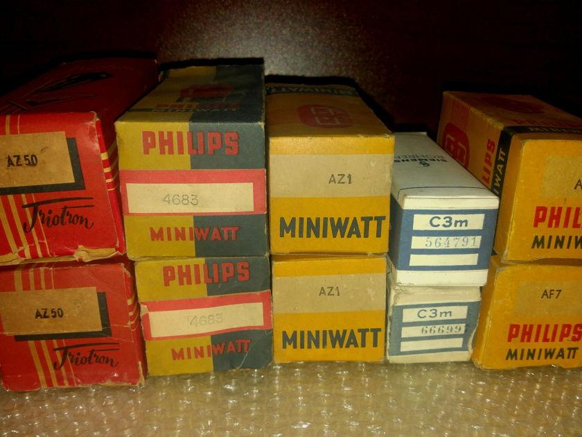 Philips Miniwatt, Siemens AD1, AF7,Cm3,AZ1,AX50 lot 10 tubes for Sengled Ended finest amplifier