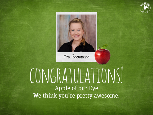 Broussard Apple of our Eye Teacher