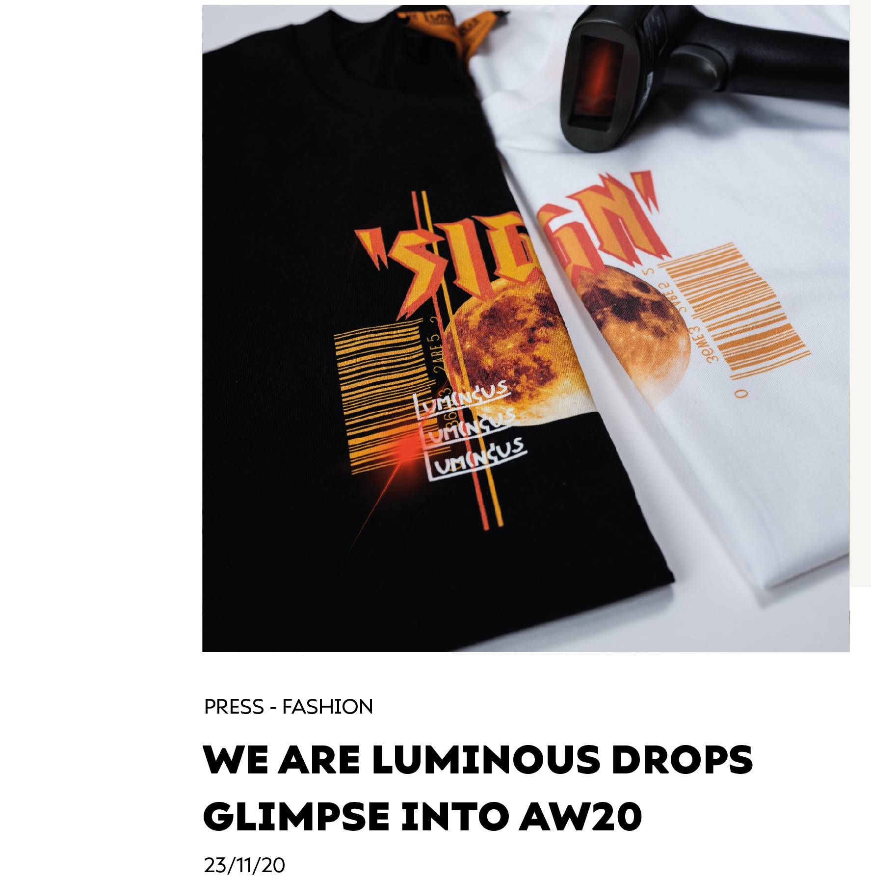 We Are Luminous London Drops Glimpse Into AW20