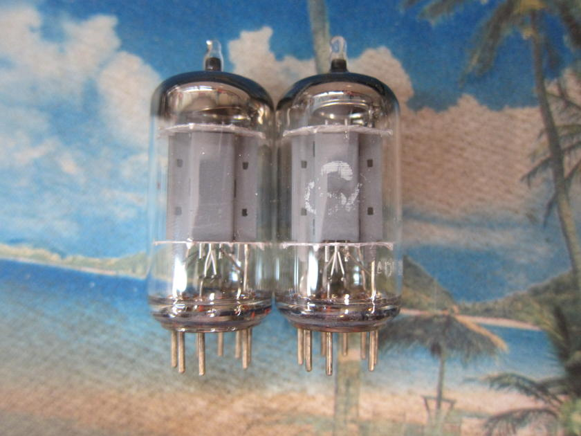 Pr Vintage Telefunken  12ax7 Ecc83 Preamp Driver Tubes,1960s,Smooth Plate Strong, West Germany, Ex Sound