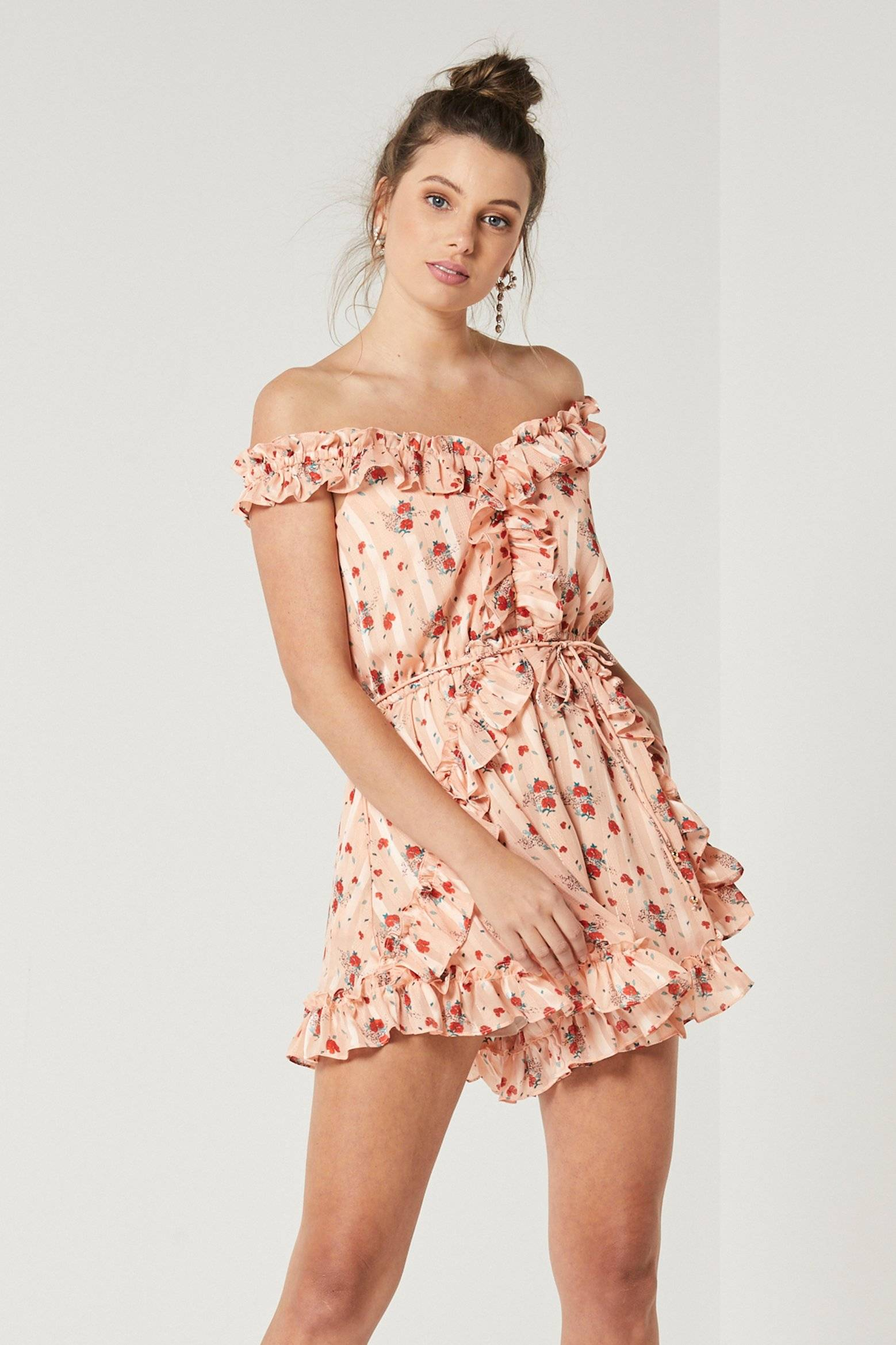 Finders Keepers Limoncello Dress - Yellow Floral