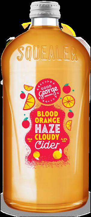 Good George Blood Orange Haze Cloudy Cider Squealer