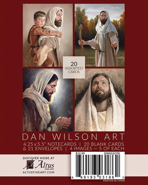 20 pack of Christian notecards, art by Dan Wilson.