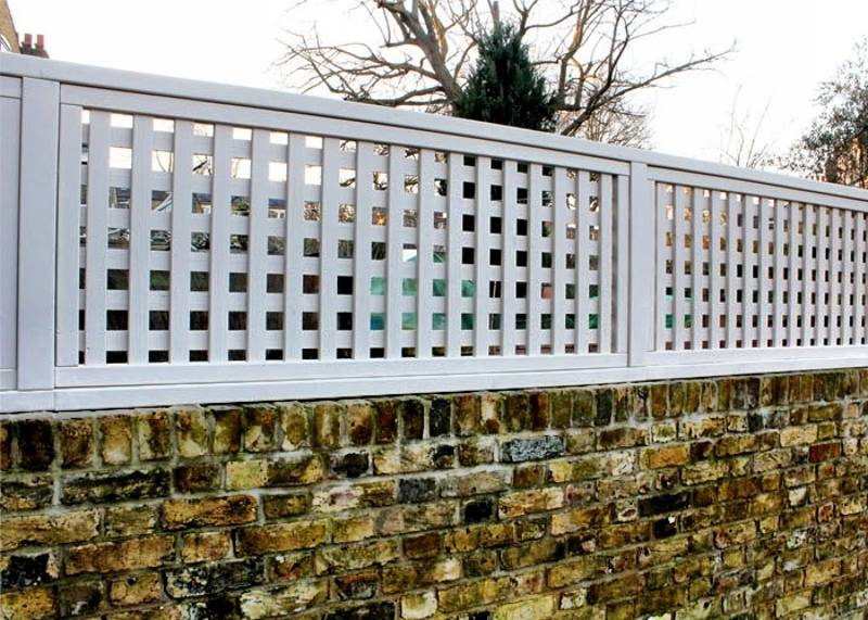 Painted Garden Trellis Panel