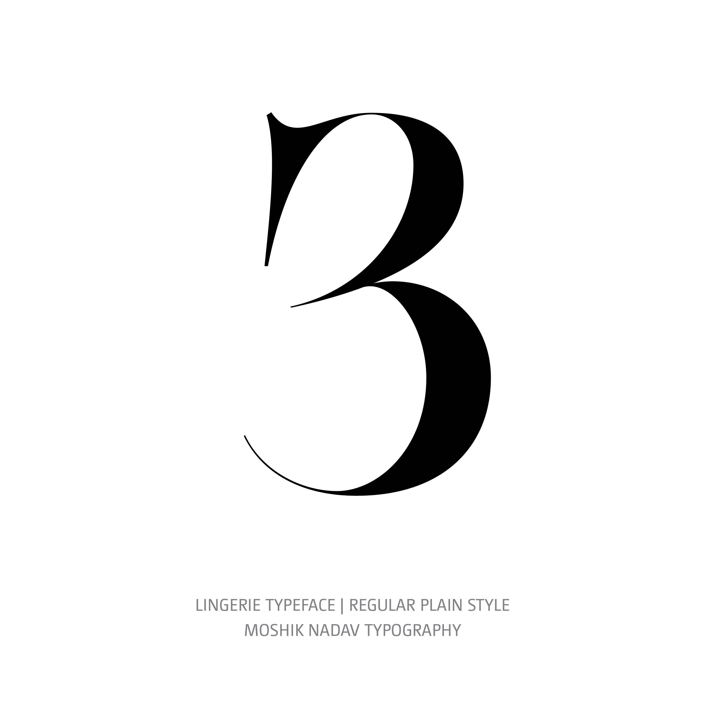 Lingerie Typeface Regular Plain 3