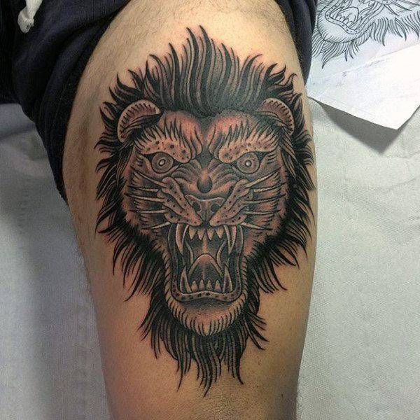 Tatouage Lion Brutal