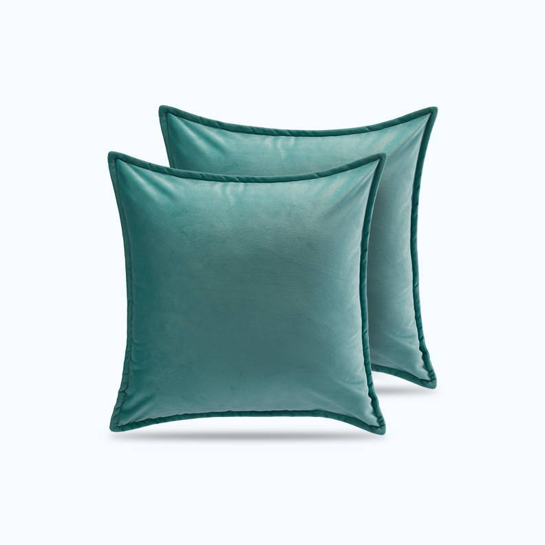 sleep zone bedding website store products collections  satin pillowcase velvet throw pillow covers light green