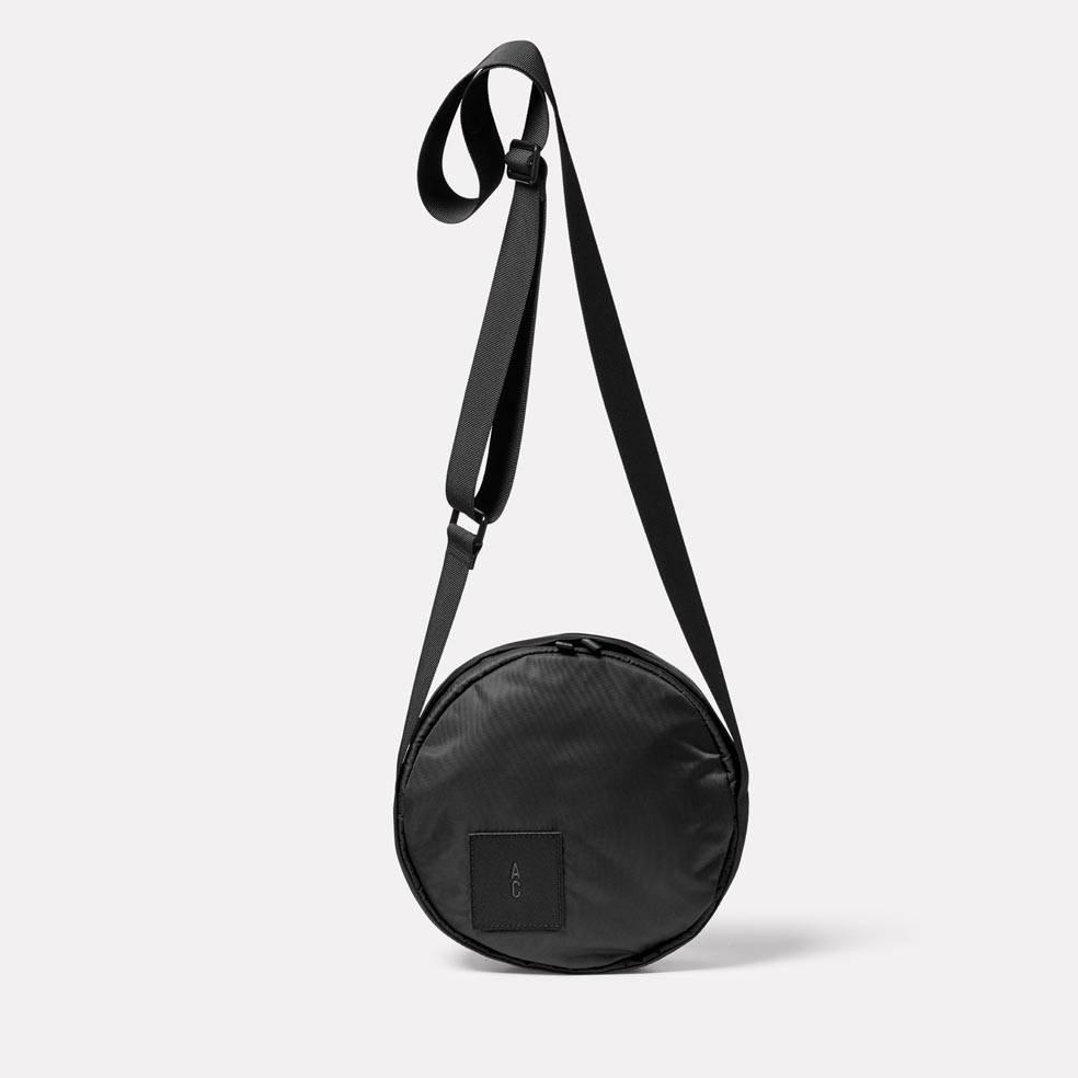 Bill Circle Nylon Crossbody Bag in Black