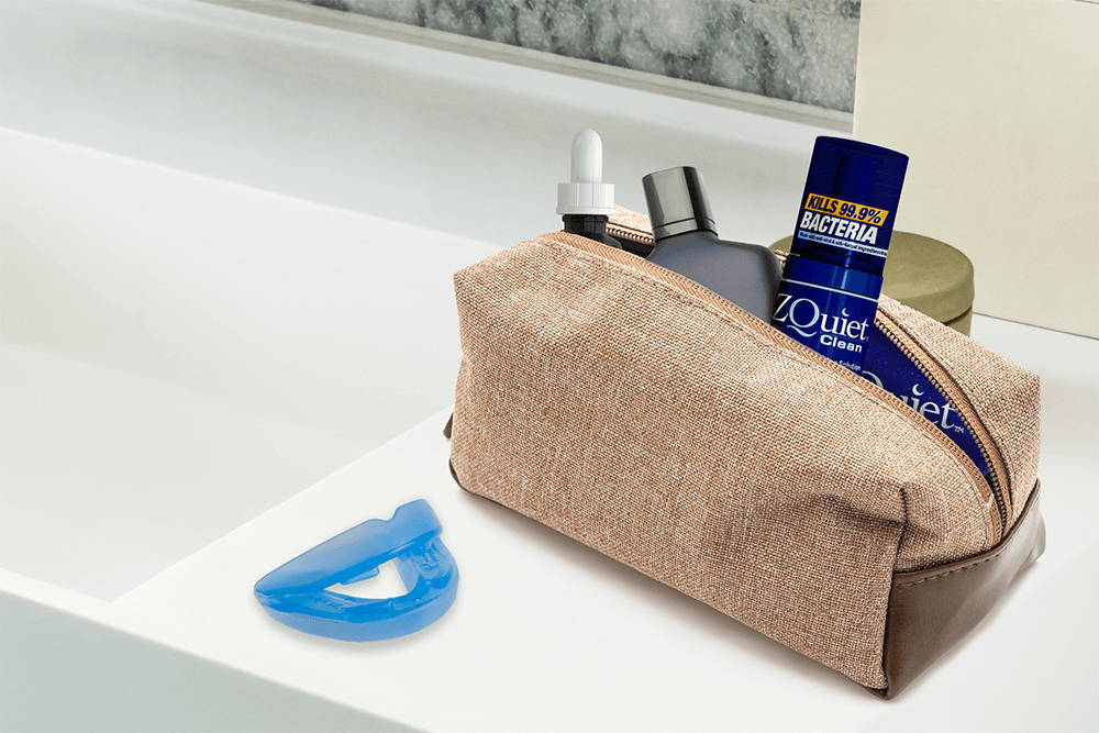 Zquiet Cleaner in a travel bag