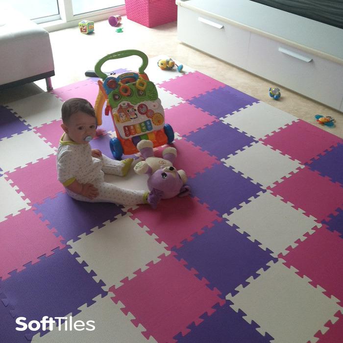 Kids Playroom Mat Soft Foam Puzzle Mat Softtiles