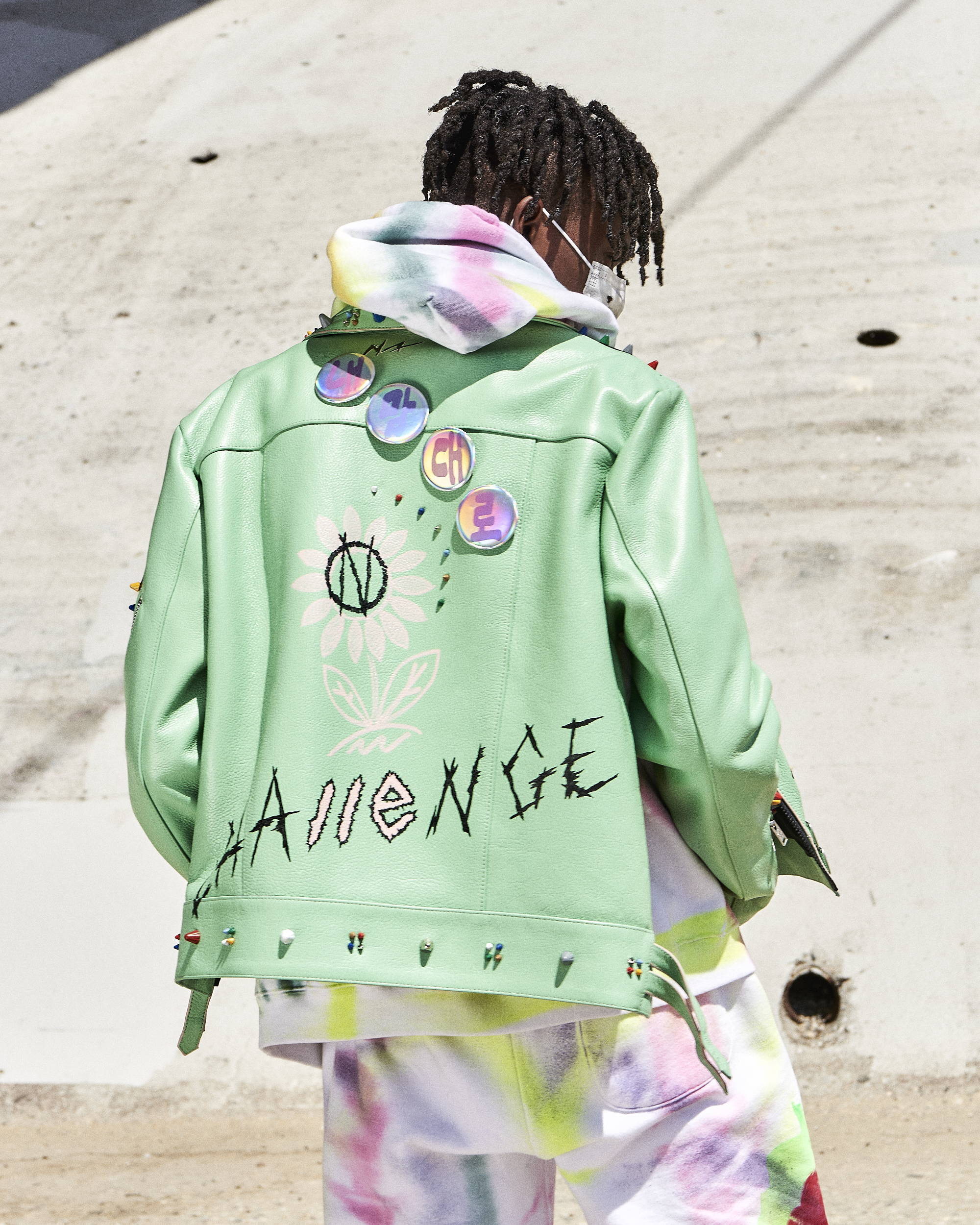99% Exclusive Painted Leather Jacket - Hlorenzo