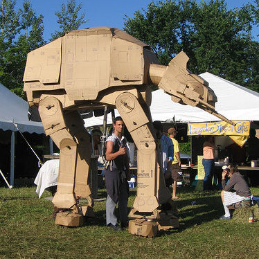 Star Wars AT-AT made from cardboard