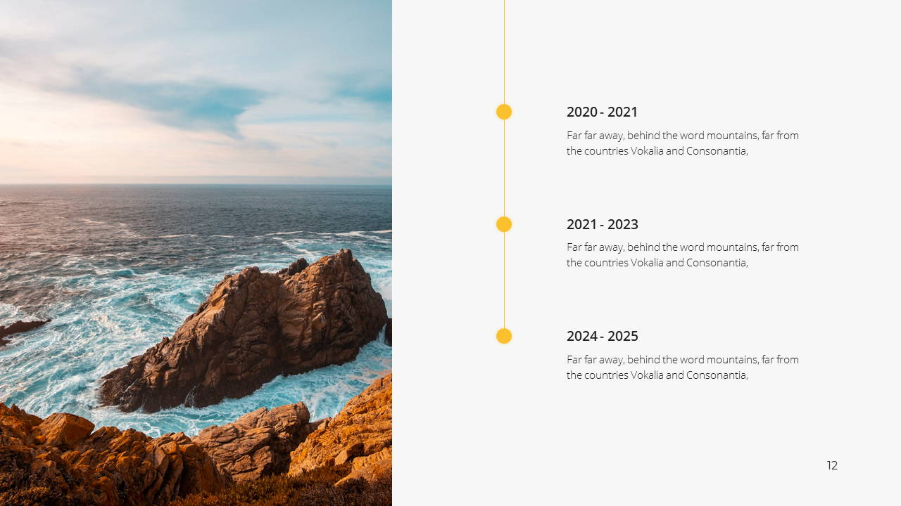 Minimal X Consulting Firm Proposal Presentation Template Timeline