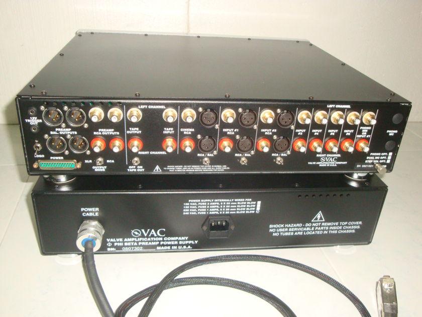 VAC Phi Beta Tube Line Stage   - Rare  220 - 240 volt