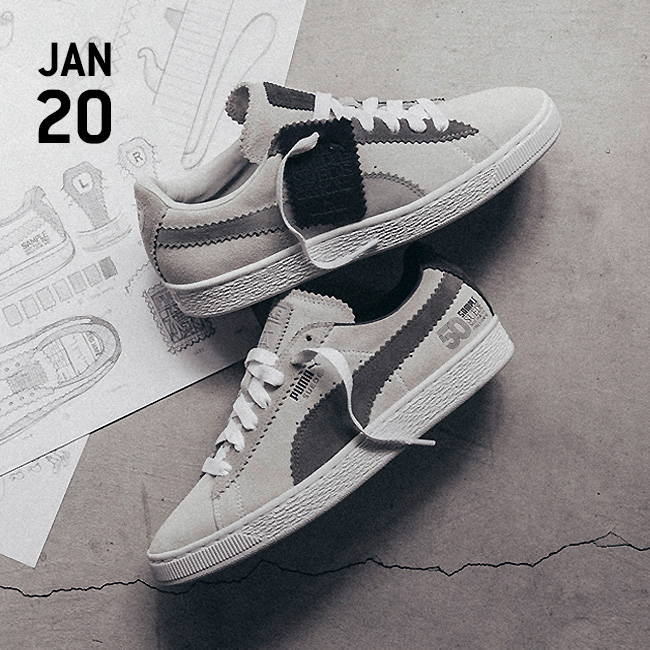 the latest 23bf2 6bb17 Puma X Michael Lau - Suede Classic - White/Grey – Urban Industry