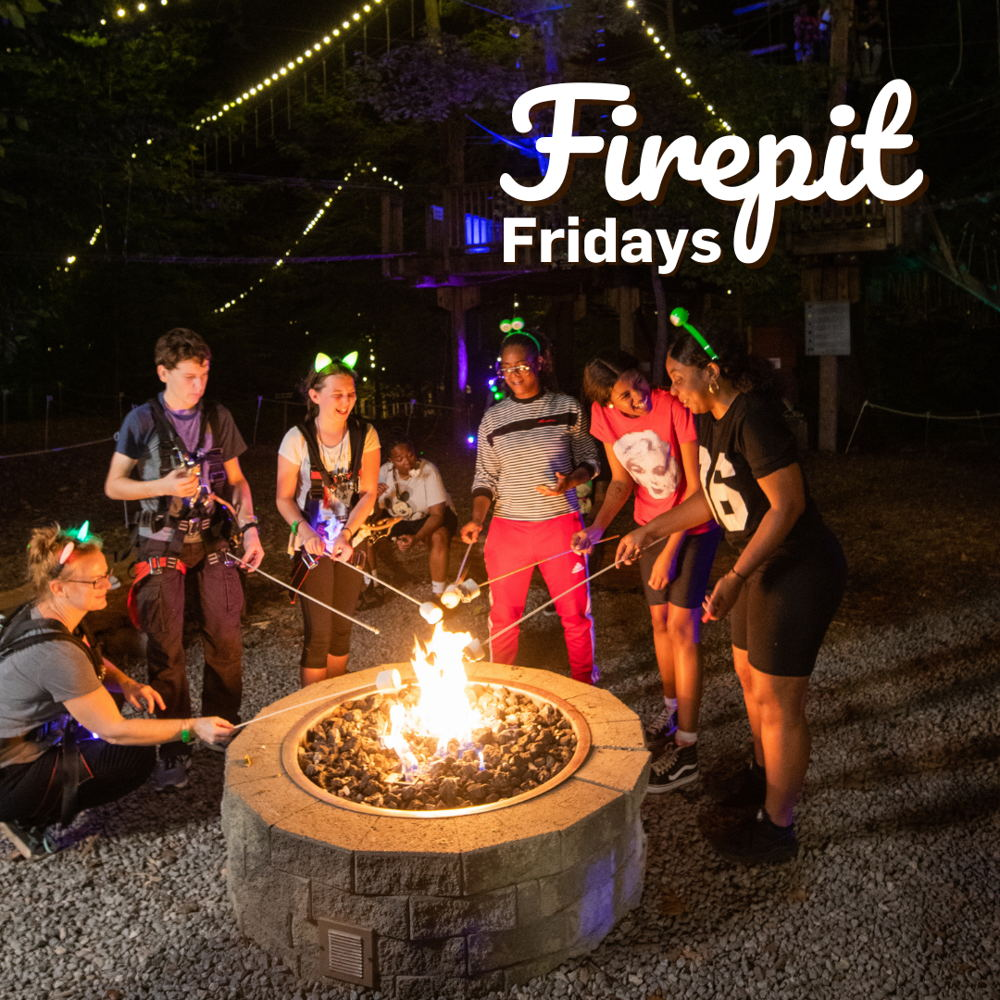 Picture of Cooler Fall nights are perfect for a campfire!  Zipline, climb and then get cozy!