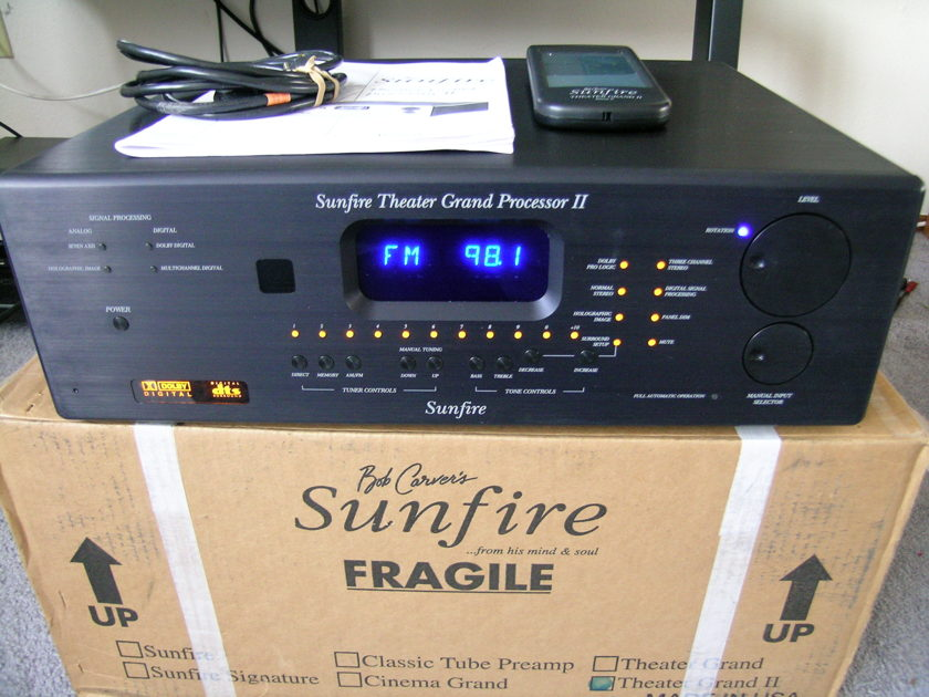 New Sunfire TGP-II Never Used Open Box Mint Condition Works Perfect Original Remote, Manual