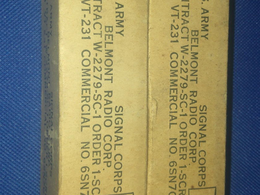 ken-Rad Vintage VT-231 6SN7GT Black Plates Matched PAIR NOS NIB U.S.Army-REduced