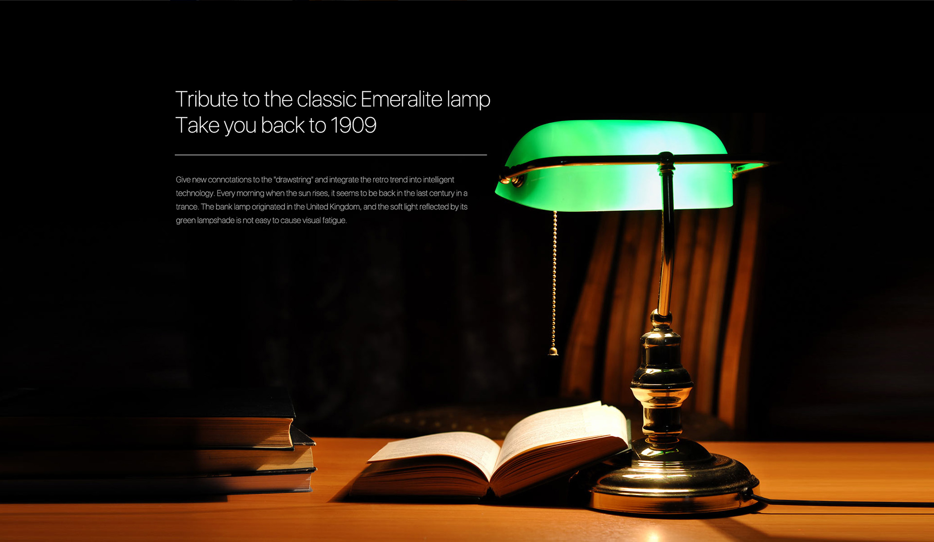 tribute to the classic emeralite lamp take you back to 1909