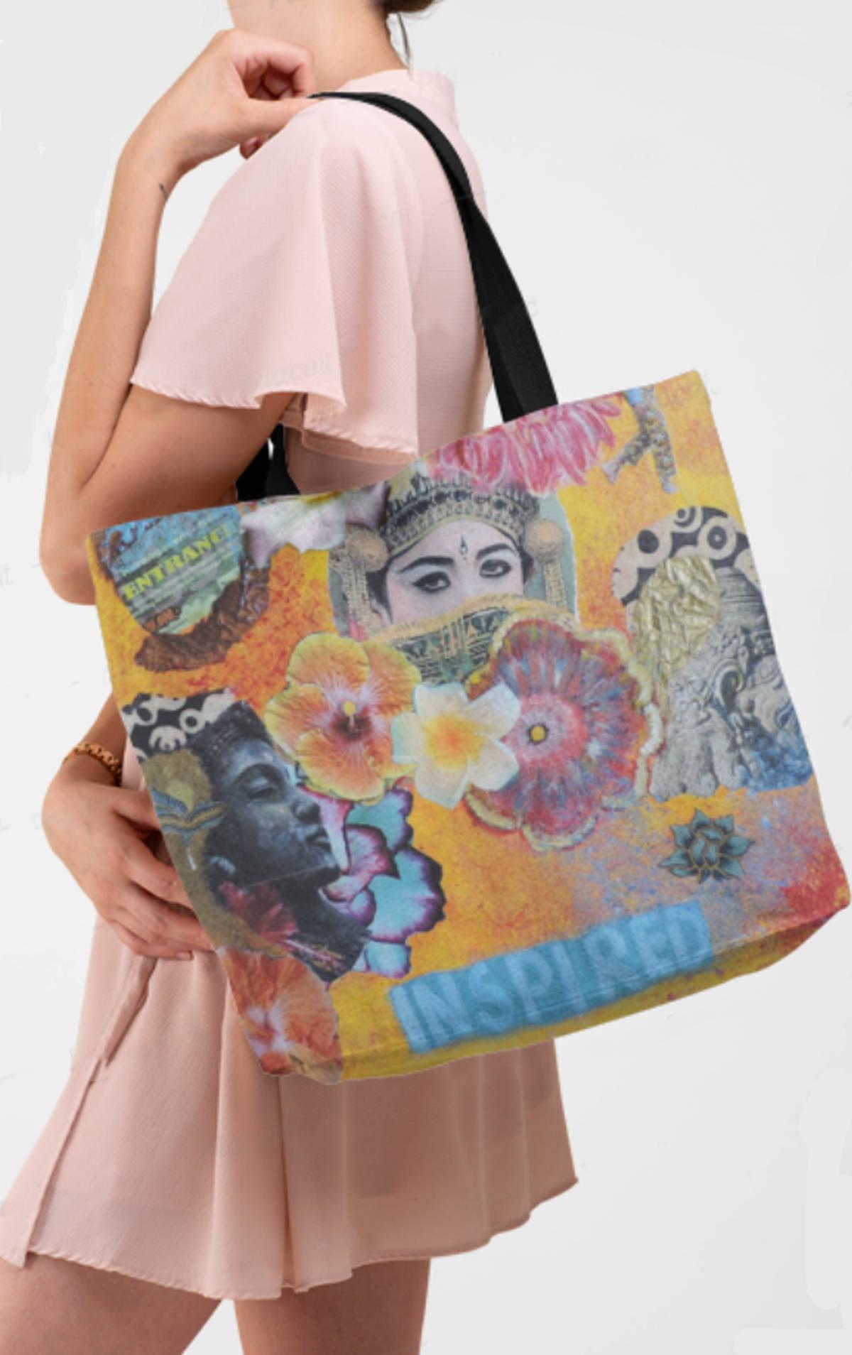sac de plage à fleurs hippie boheme vintage asiatique tendance