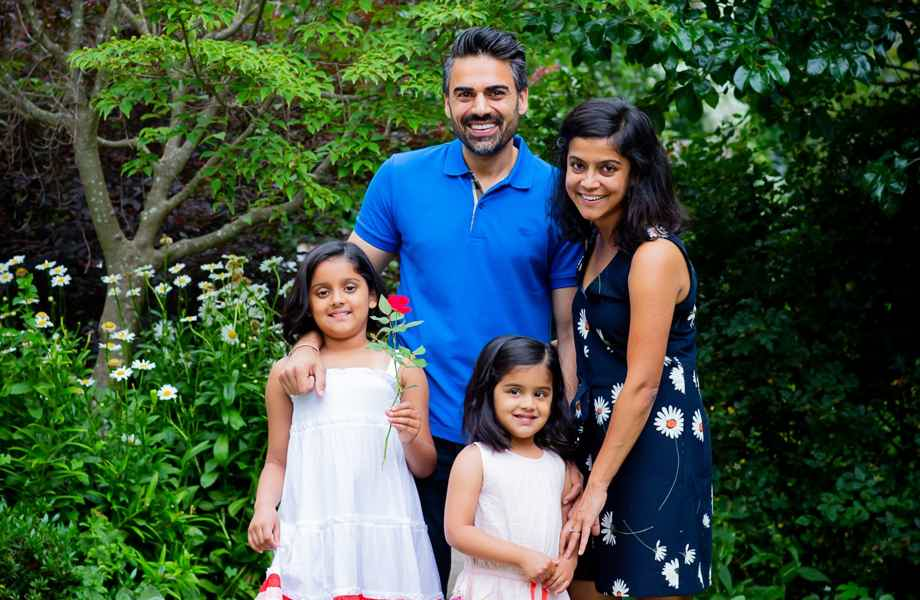 Franchise Owners of Primrose School Supriya and Nitin with their family