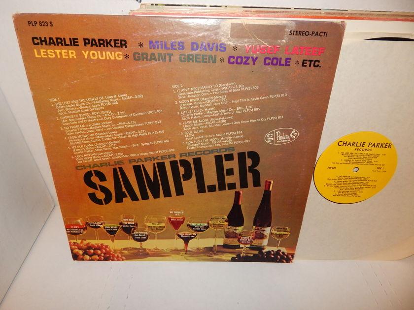 CHARLIE PARKER SAMPLER  - Miles Davis Max Roach Yusef Lateef Various Jazz Sampler 1965 CP Records LP