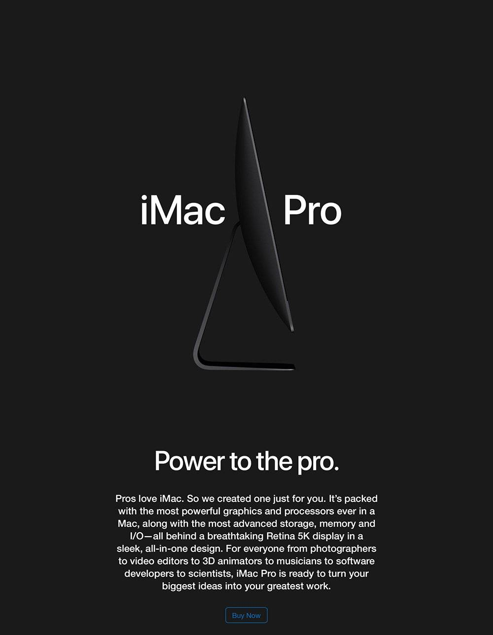 Buy iMac Pro now