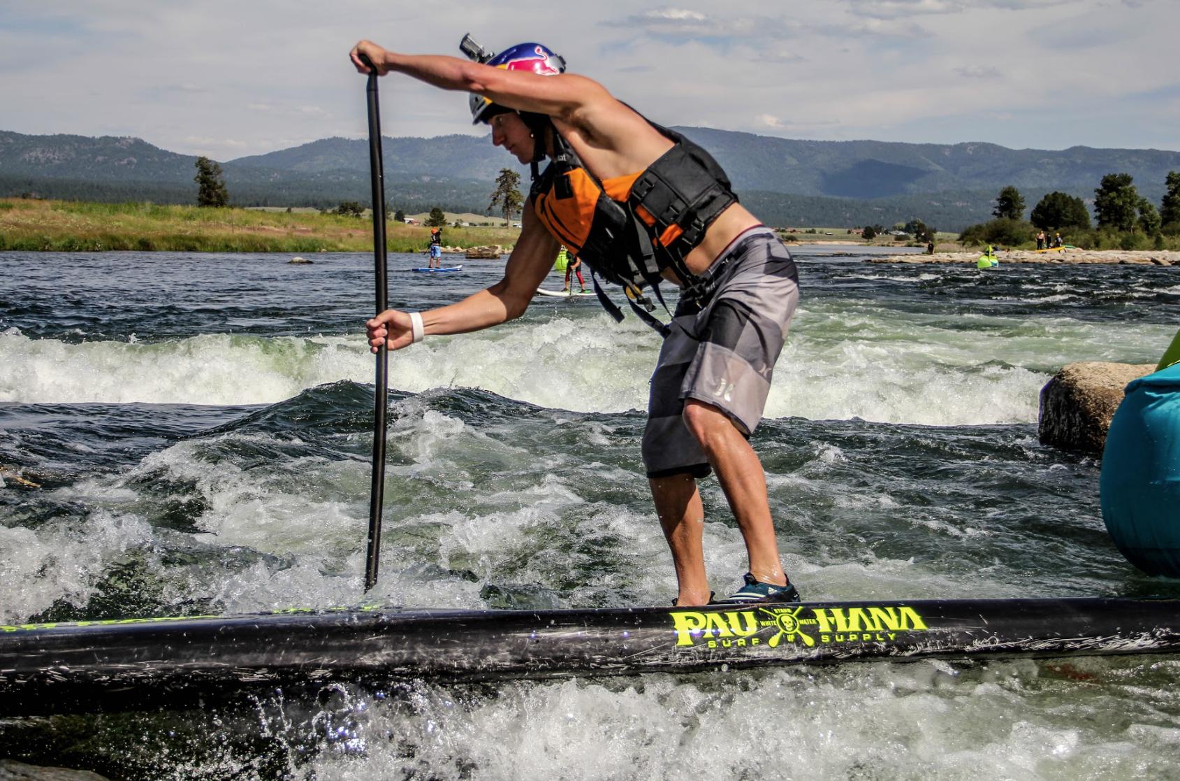 White water SUP racing