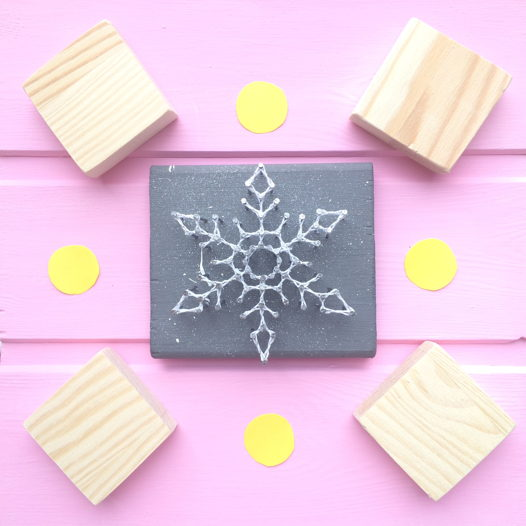 Снежинка стринг арт