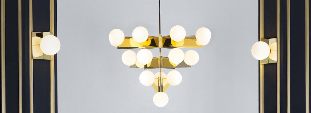 Tom Dixon Plane Chandelier and Wall Lights