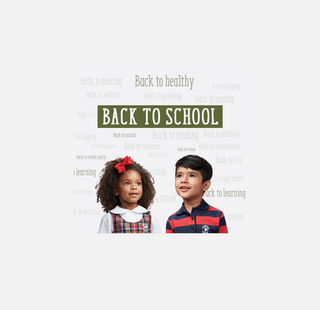 Chlidren in Primrose Uniforms, text on image says Back to School