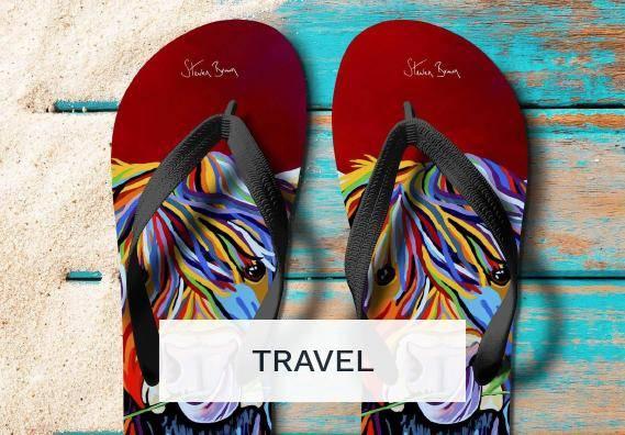 Travel Essentials  by Scottish Artist Steven Brown