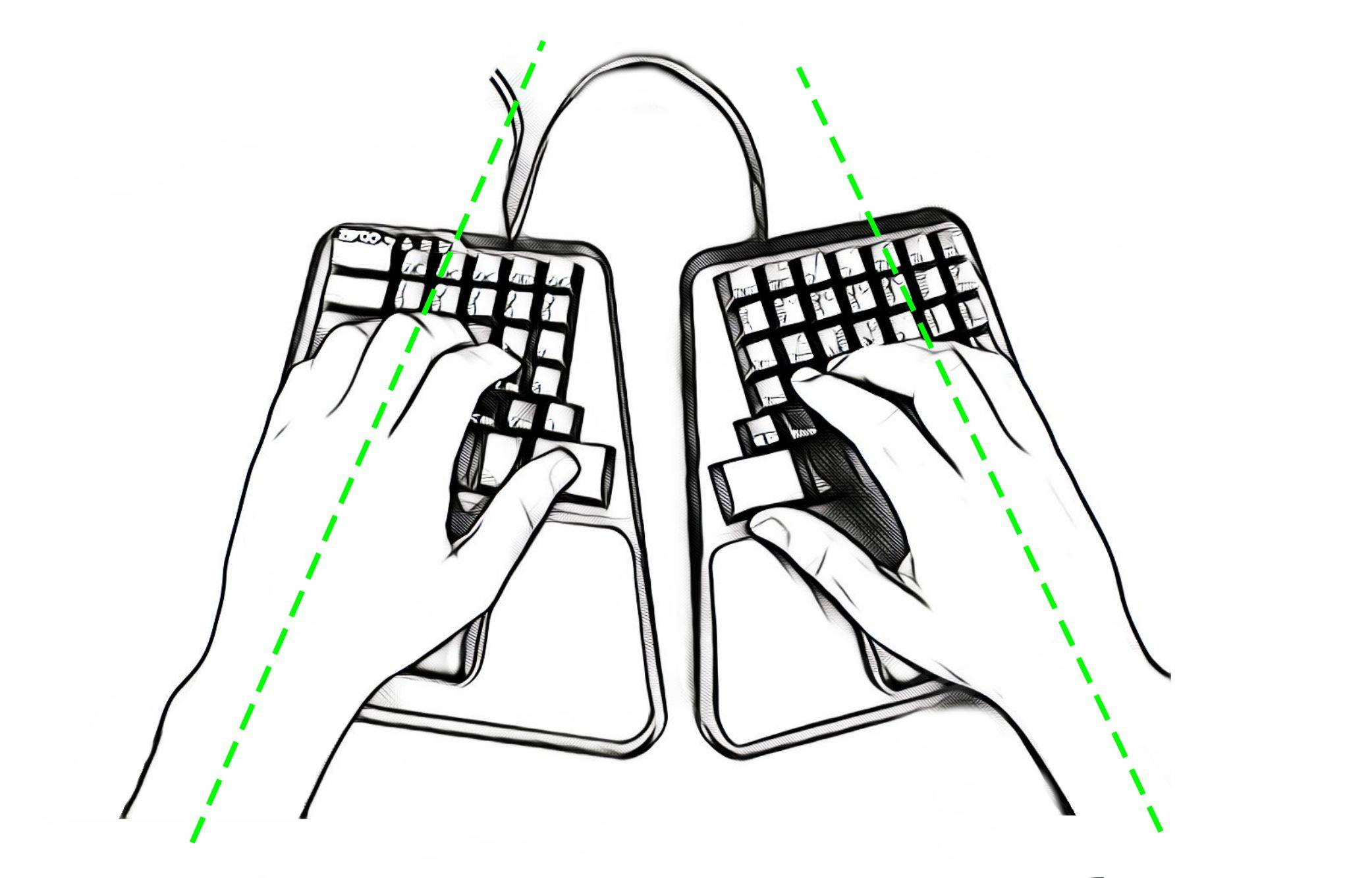 zergo position for backspace enter keys