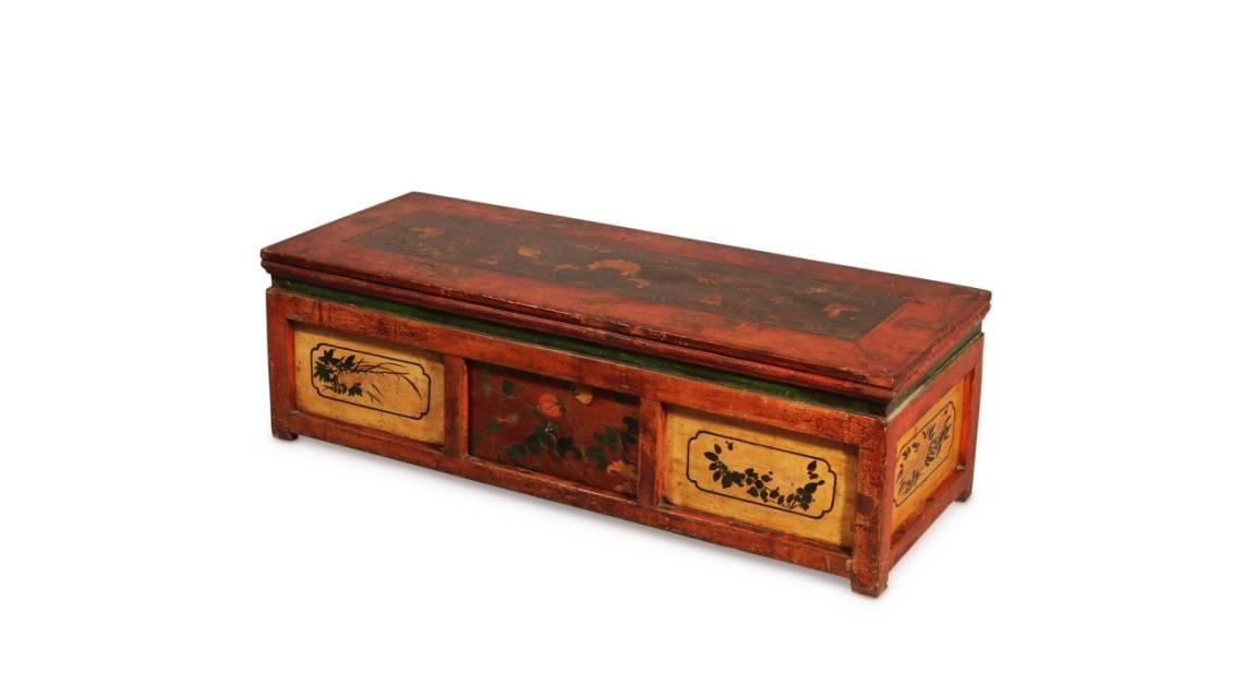 Antique Painted Mongolian Prayer Tables, Choksars & Furniture From Mongolia | Indigo Antiques