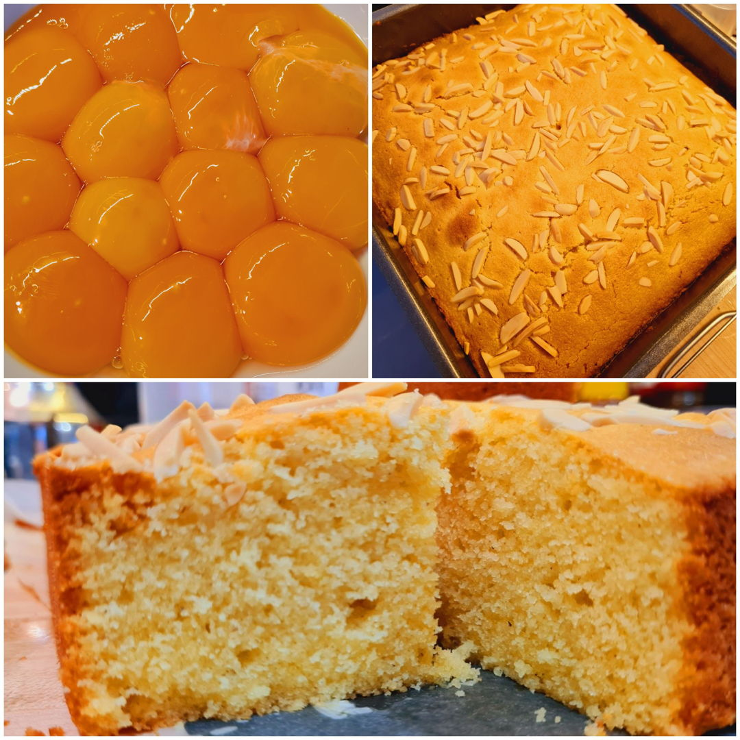 Made my family's recipe for almond sugee (semolina) cake. We usually make this for Christmas and Chinese New Year, but lately my aunt and grandma prefer buying it from our family friend since they lack the manpower back home to make it.  Not gonna lie, making this away from home all on my own did make me a little homesick :')