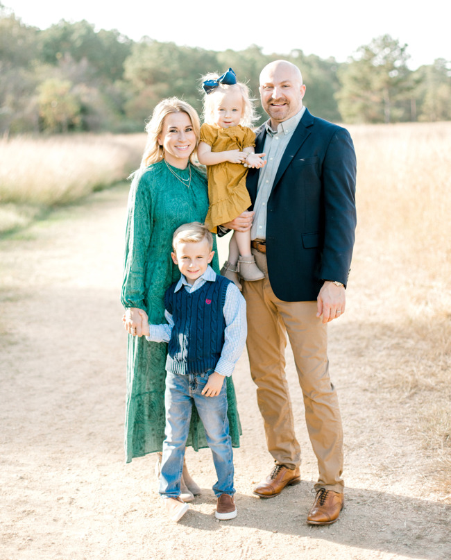 Lindsey and Justin Reed along with their children attend Primrose School of Bridgeland in Cypress Texas