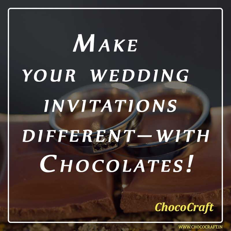 Chocolates as wedding invitation in India