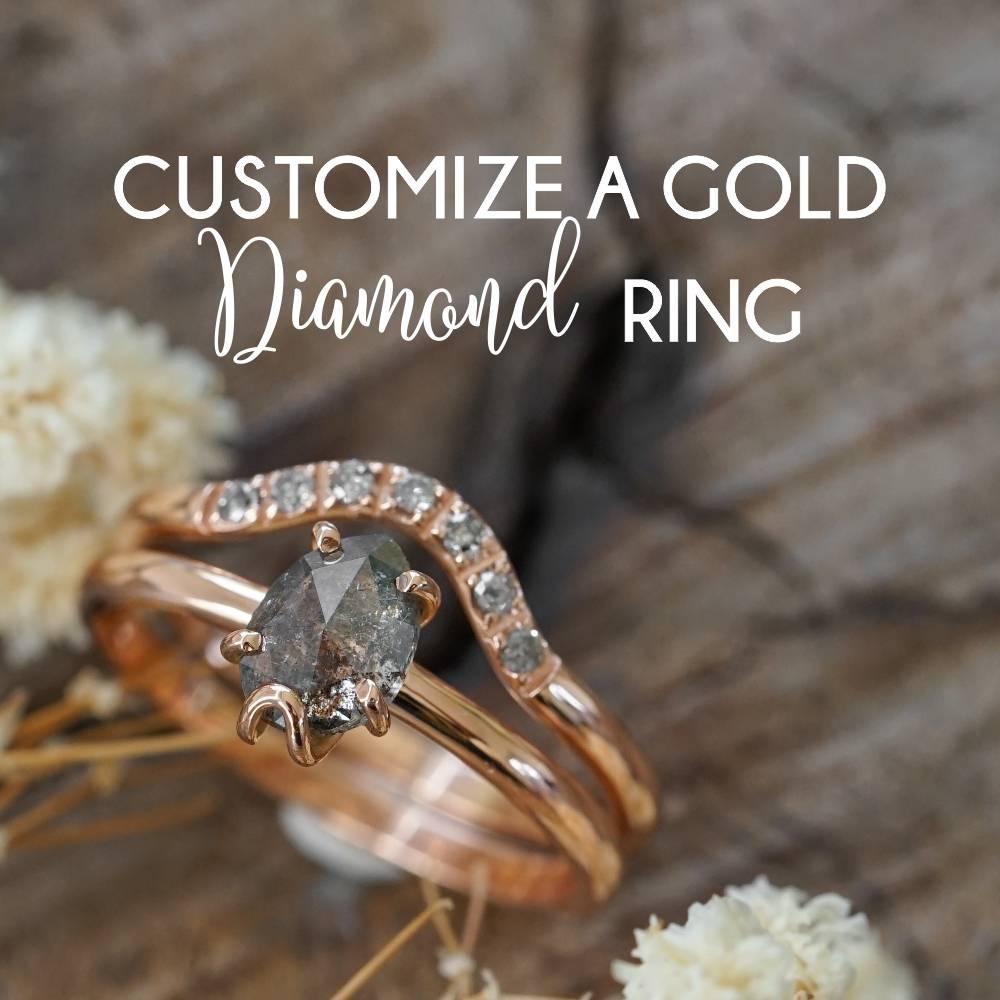 Customized diamond ring
