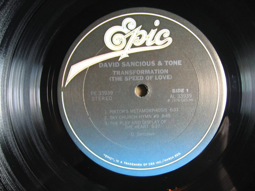 David Sancious And Tone - Transformation (The Speed Of Love) - 1976 Epic PE 33939
