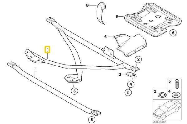 E36 X-Brace Replacement 51718410212