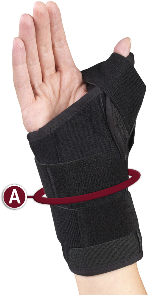 WRIST-THUMB SPLINT MEASURING LOCATION