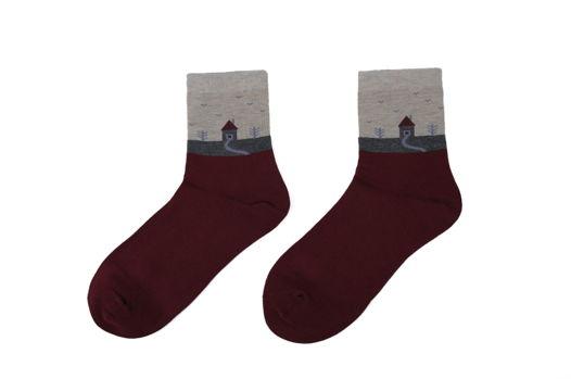 Красные носки средние (36-42)