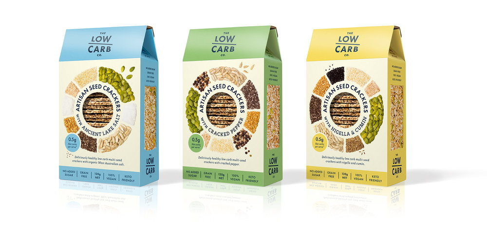 Healthy low carb, multi-seed crackers