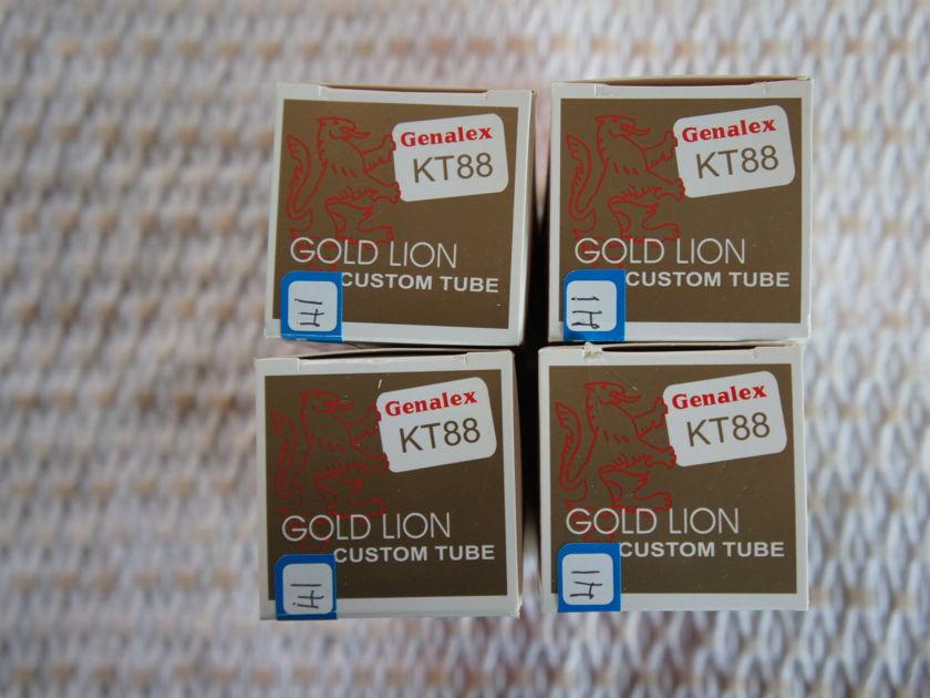 Genalex Gold Lion Matched Quad KT88