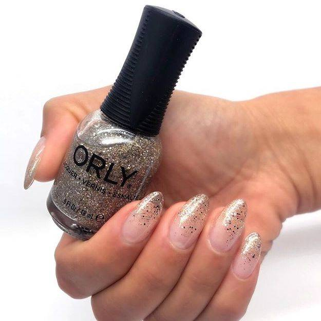 ORLY clear glitter tips manicure created with ORLY Builder In A Bottle