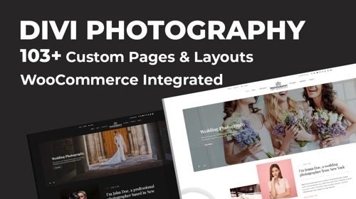 Divi Photography eCommerce