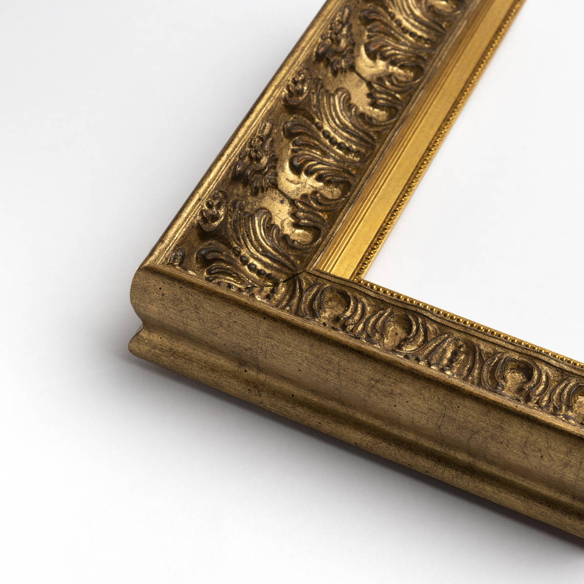 TV-Mirror Ornate Antique Gold Frame with Gold Inner by FRAMING TO A T